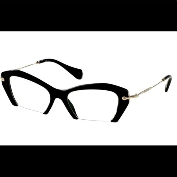 5b5f13315d95 New Miu Miu Cut-Off Cat Eye Glasses